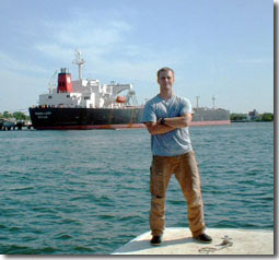 Ethan Powell ´04, summer cargo ship crewmember