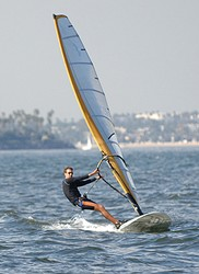 Windsurfer Bob Willis '09 hopes to <br>qualify for the London 2012 Olympic Games. <i>Photo by John Willis.</i>