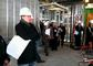 Alumni Association Board members survey progress at the new Science Center at New London Hall.