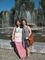 Jyoti Arvey '14, right, and her tutor take a walk at a local park in Russia.