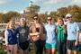 Alumni rowers pose for a picture with friends after the race. From left: Amanda Jones '13, Justine Rooney '12, Jessica Truelove '11, Jenny Cochrane '12, Sarah Brodsky '11 and Lucy Frye '12.