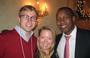 Neil Jones '09, Quinn Areualo '10 and Samuel Rugunda '10 ring in the holiday season at the annual New York City party.