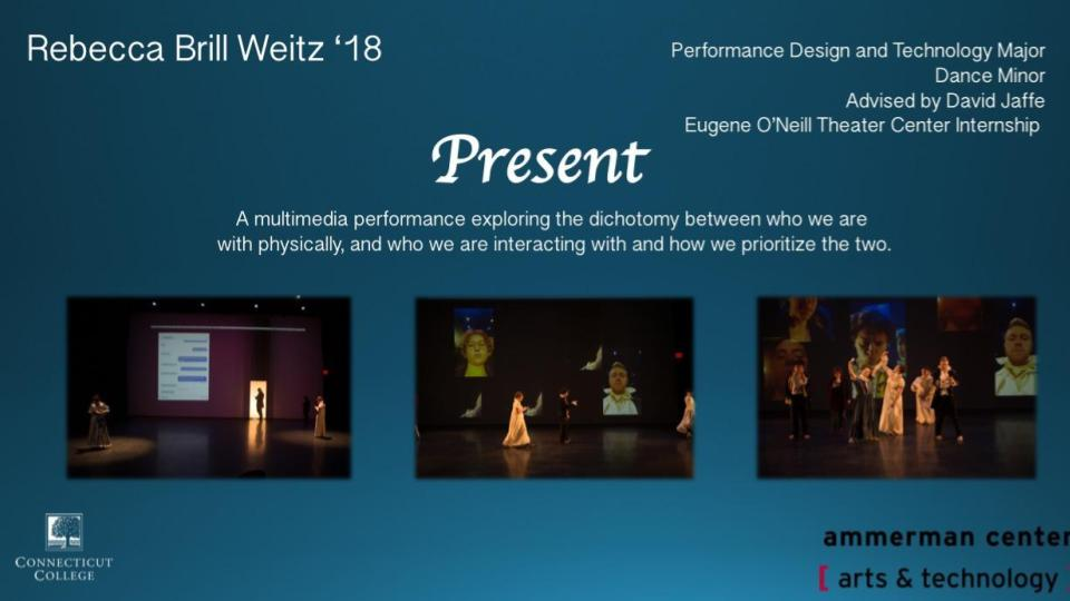 A slide from Rebecca Brill Weitz '18's senior project,