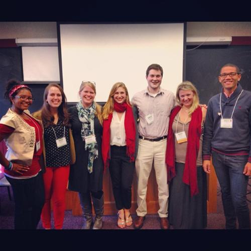 Conn College group at conference