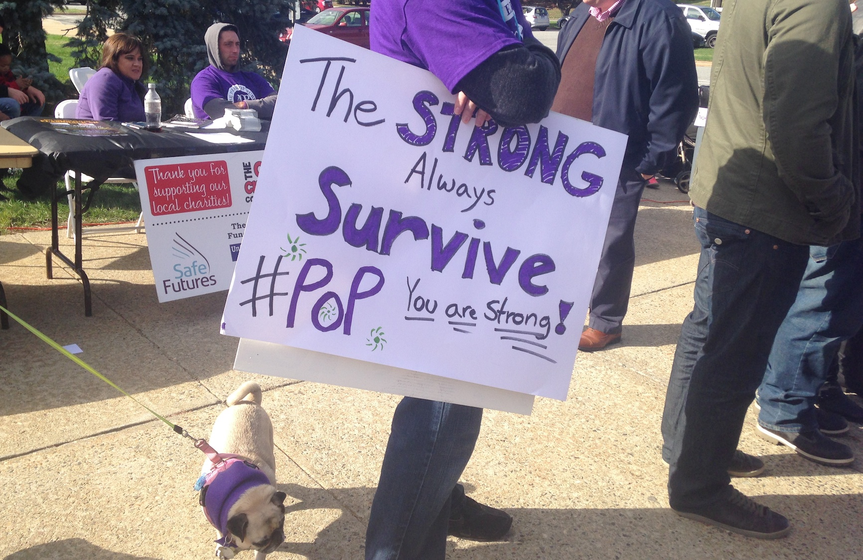 Photo from the Power of Purple Walk and Rally held in honor of Domestic Violence Awareness Walk