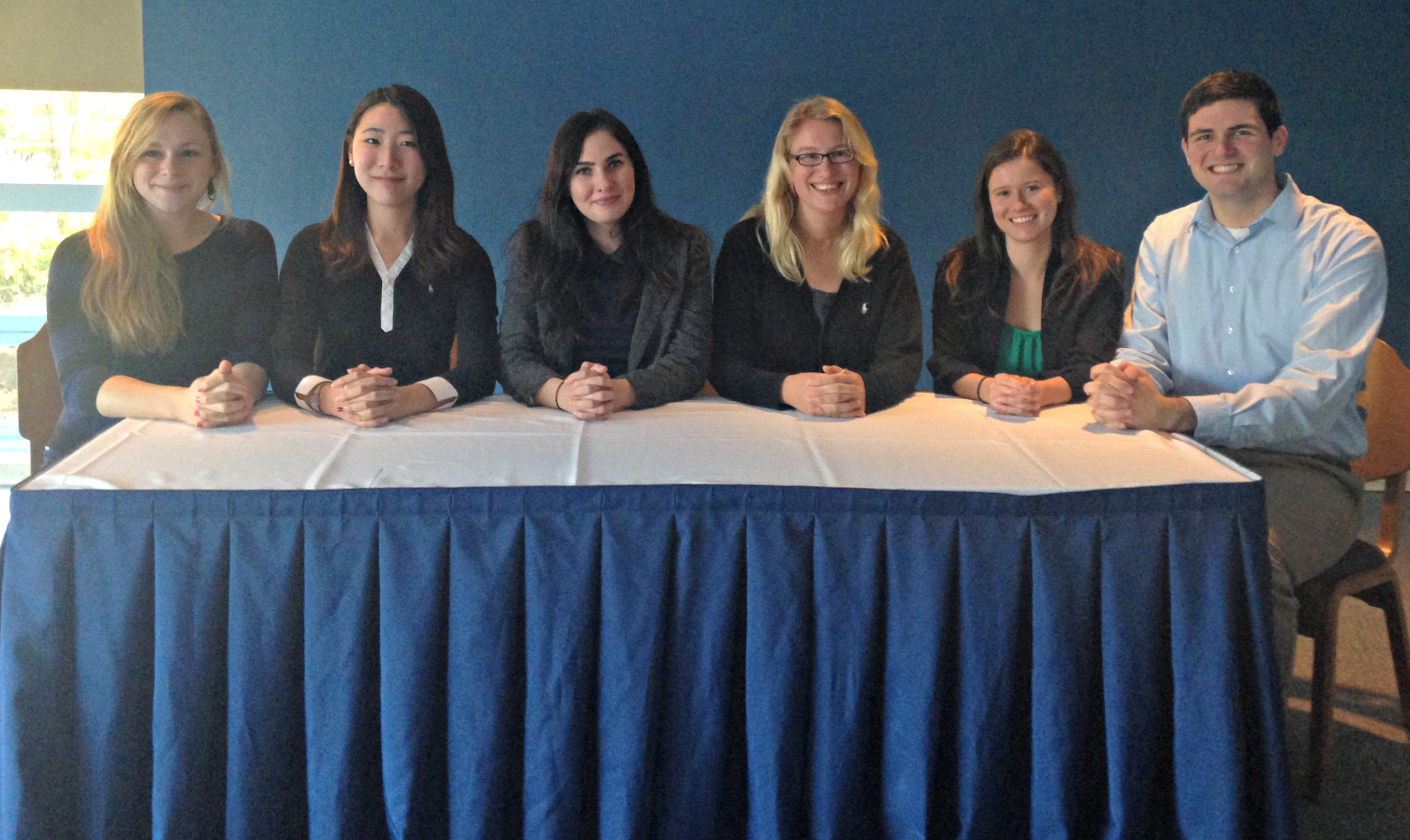 Photo from the Fall 2014 induction ceremony for the college's chapter of Psi Chi National Honor Society in Psychology