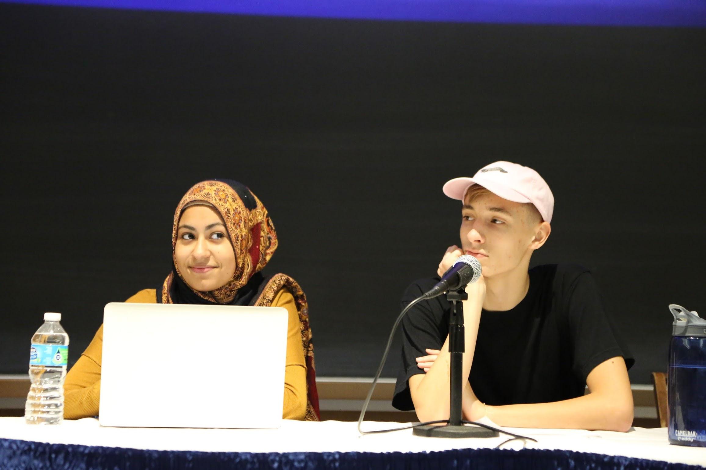 Students at event lecture