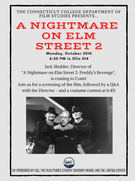 Event poster for Nightmare on Elm Street 2 screening