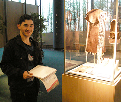 A History student gathers evidence for an assignment about decolonizing museums at the nearby Mashantucket Pequot Museum and Research Center in Connecticut.