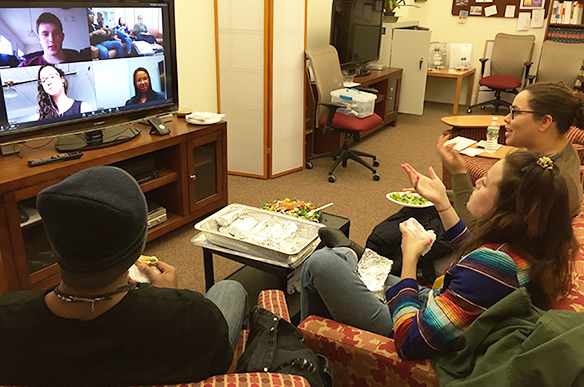 Slavic studies students have a virtual meeting with alumni.