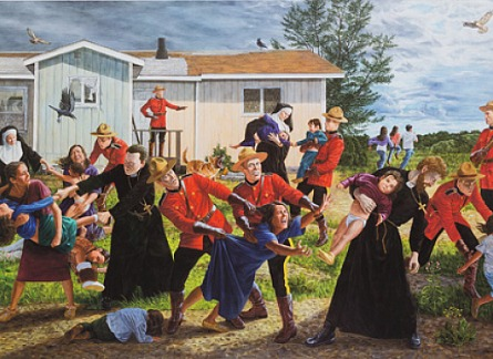 image of Kent Monkman's painting The Scream