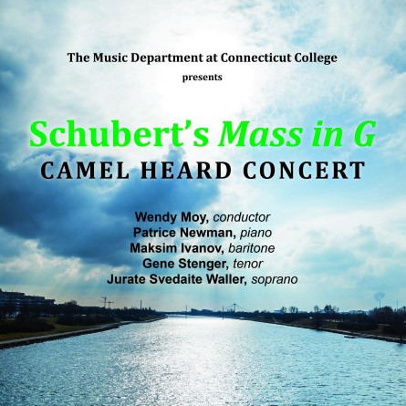 poster for the Camel Heard chorale concert Schubert