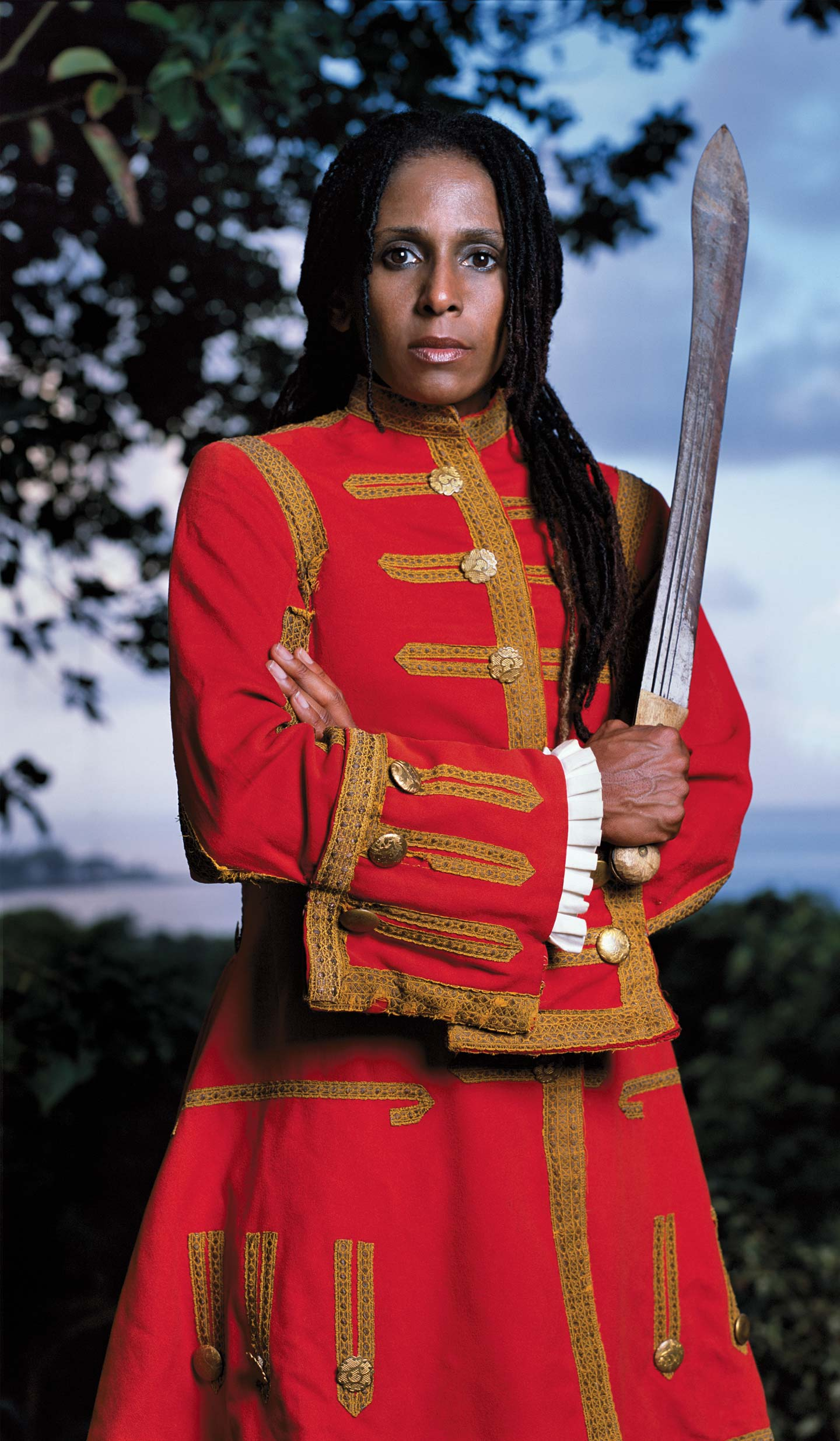 Red Coat by Renee Cox, 2004, Color digital inkjet print on water color paper AP1, 76 x 44