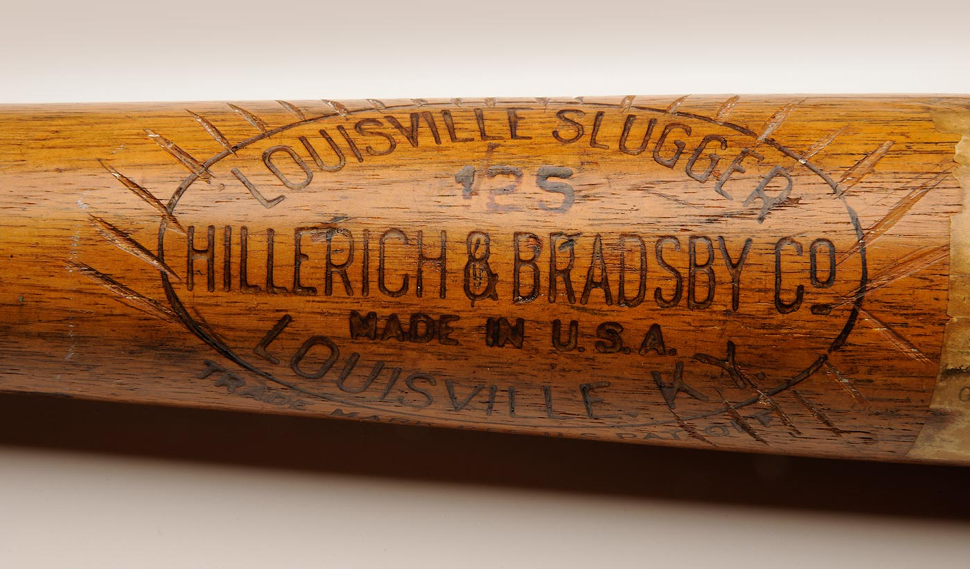 Hall of Fame bat