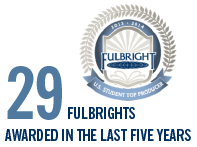 29 Fulbrights awarded in the last five years