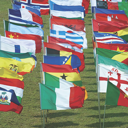 International Flags on CC Green