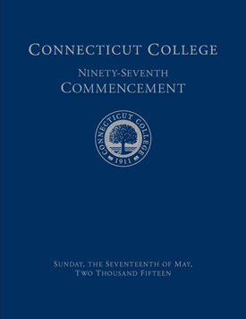Commencement 2015 program cover