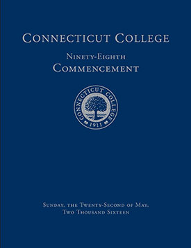 Commencement program cover