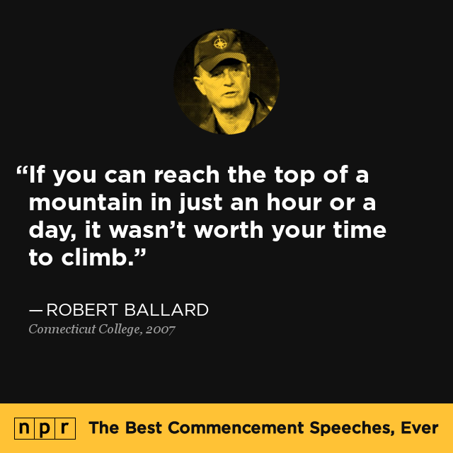 npr s best commencement speeches · connecticut college robert d ballard p 16