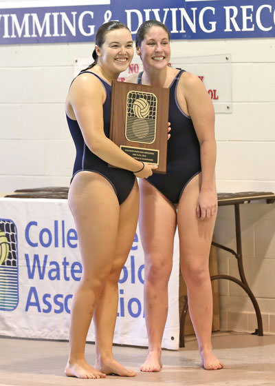Abbey Wrobleski '16, CWPA D3, NCAA Honorable Mention; and Kelsey Millward '16, CWPA D3 MVP, NCAA First Team All-American, CoSIDA Academic At Large All-America Third Team