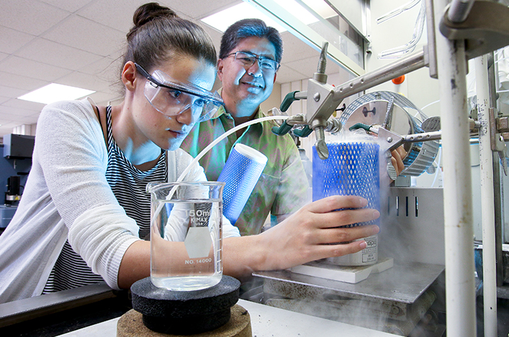 Connecticut College students spent part of their summer working as science research interns.