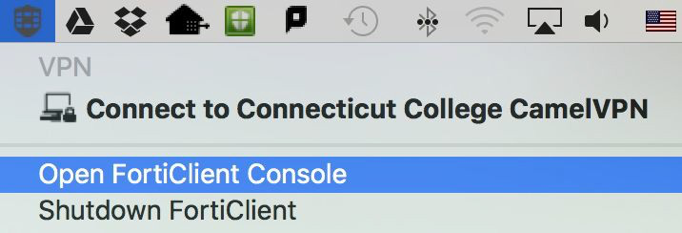 Fortinet VPN - Mac · Connecticut College
