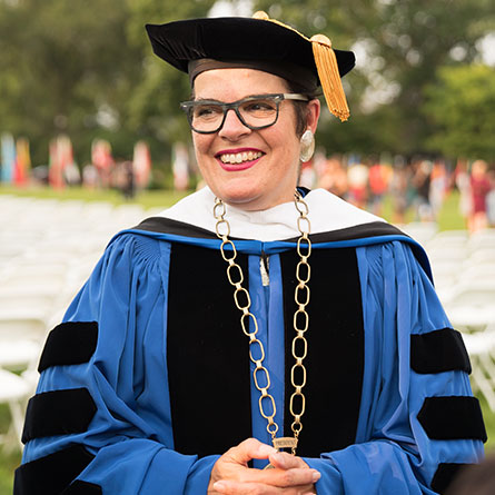 President Katherine Bergeron at Convocation 2018