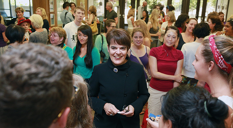 The campus community welcomes President-elect Bergeron.