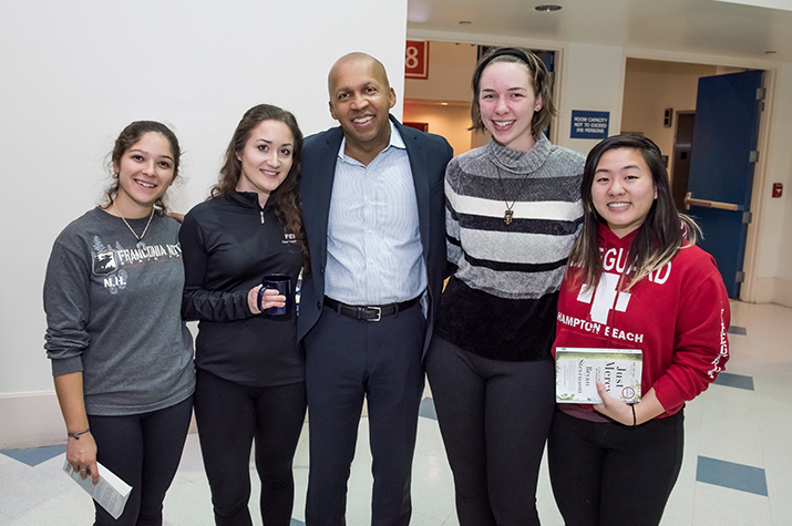 Bryan Stevenson at the Inaugural speech of President Katherine Bergeron's Distinguished Lecture Series