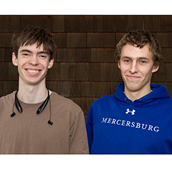 Roberto Gochicoa '17, left, and Carson Owlett '17 are two of the nine players from Connecticut College who will compete for the College Poker Tour 2015 National Championship Sunday.