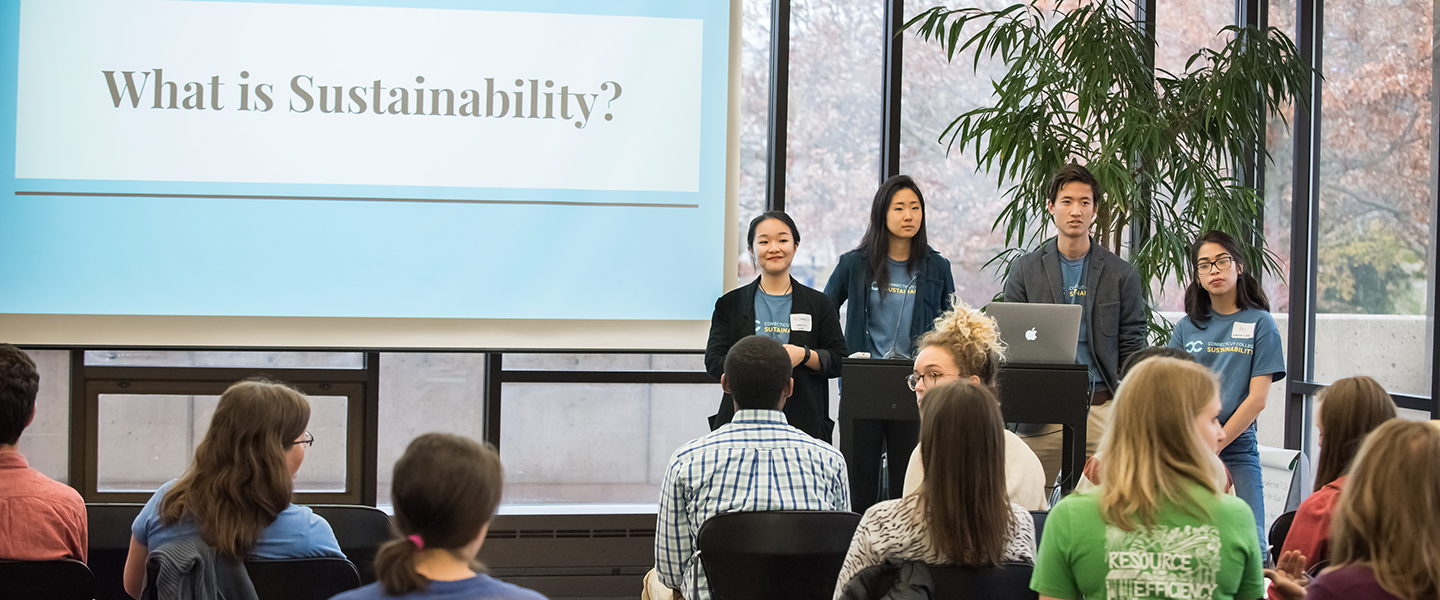 Students at the Student Sustainability Leadership Conference