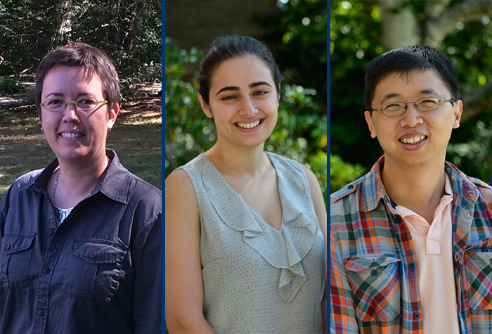 Connecticut College is hosting three postdoctoral fellows through the Creating Connections Consortium (C3; Siri Colom, Seema Golestaneh, Tony Lin