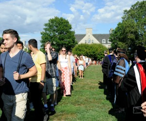 The entire Class of 2018 took part in the ceremony celebrating the 100th Connecticut College Convocation.