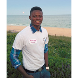 The partnership between Connecticut College and The Opportunity Network will benefit New York City students like Moustafa Ndiaye '17, an OppNet fellow and computer science major.