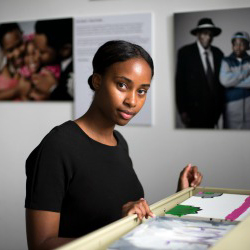 Telayah Sturdivant '15, a student in the Holleran Center's Program in Community Action, is interning this summer at Art Start in New York.