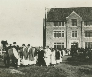 Connecticut College's first Convocation, held on Oct. 9, 1915.