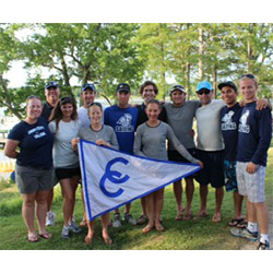 The coed sailing team placed 16th at the national finals in Maryland, finishing ahead of Harvard and Brown.
