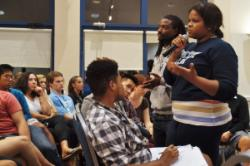 Bria Spencer '15 was one of dozens of students who discussed ways to create a more inclusive campus.