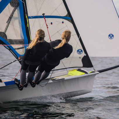 Ragna Agerup '20 and her twin sister Maia will compete in the 49erFX class sailing event at the 2016 Summer Olympics.