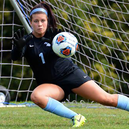Keeper Bryanna Montalvo '17 leads the NESCAC with a .938 save percentage.