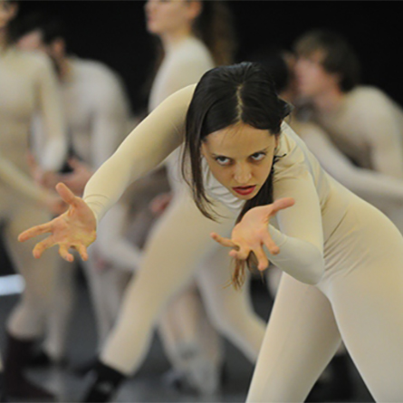 Ya'ara Moses, a teacher of the Israeli dance form Gaga, is a guest artist in the College's Dance Department this semester.