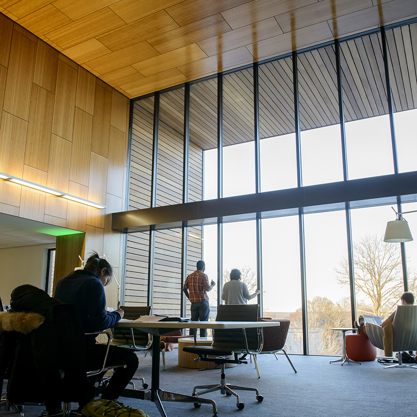 Charles E. Shain Library recently went through a nearly $10 million renovation that increased technology, added quiet study and collaborative, and provided more natural light.
