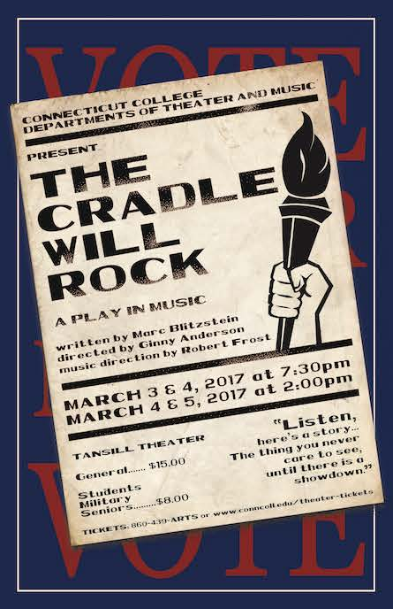 The Cradle Will Rock musical poster