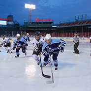 Women's hockey plays at Fenway Park