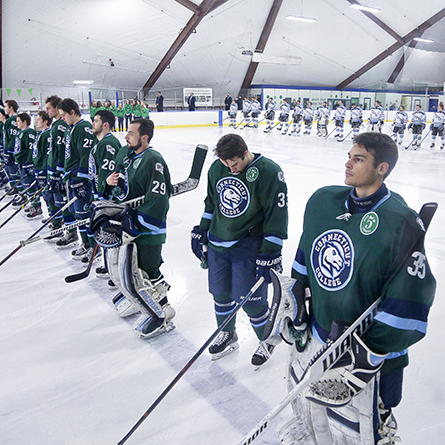 Connecticut College will take on Tufts University at the 6th Annual Green Dot Hockey Game at 7 p.m. on Saturday, Feb. 4, in Dayton Arena.