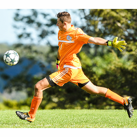 All-American goalkeeper AJ Marcucci '21 is among the 45 Camel student-athletes selected to the NESCAC Fall All-Academic Team.