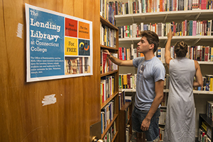 The Connecticut College Lending Library allows students to rent a textbook at no cost for the duration of a semester or a period of time, free of charge.