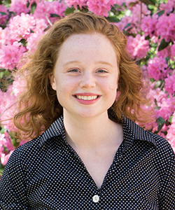 A head and shoulders shot of Fulbright winner Claire Loughlin '18