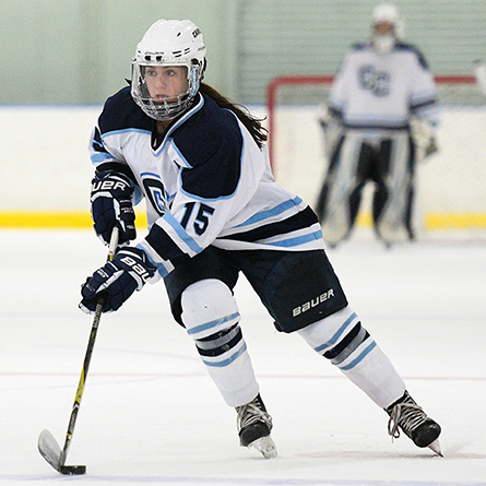 Junior Elena Gualtieri scored twice in Connecticut College's NESCAC quarterfinal victory over Colby.