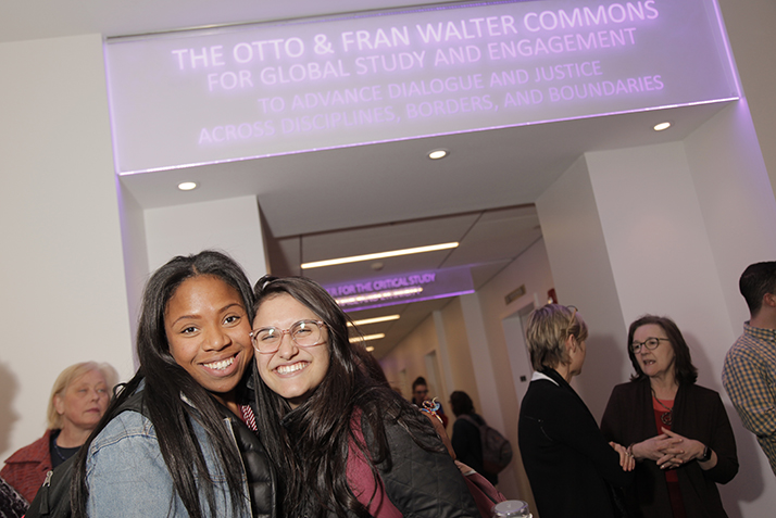 Students celebrate Founders Day at the Otto and Fran Walter Commons for Global Study and Engagement.